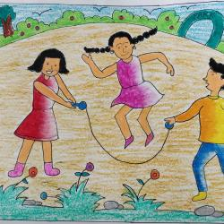 children playing jeet gandhi